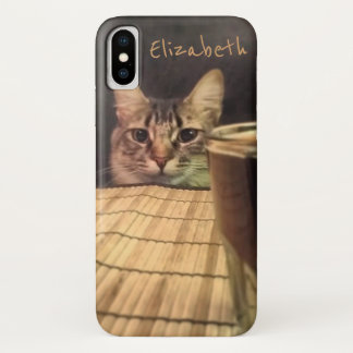 Sup Beer? Funny Humor Kitty Cat Photo Photography iPhone X Case