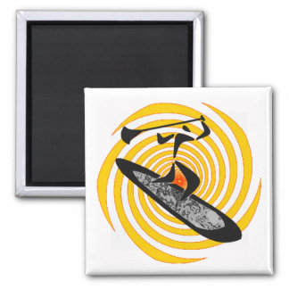 SUP BY SUNRISE 2 INCH SQUARE MAGNET