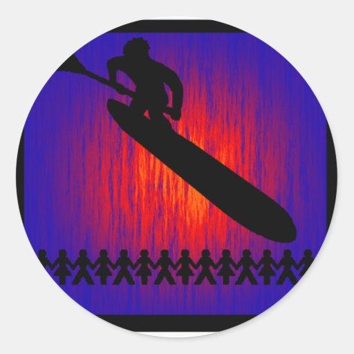 SUP by Twilight Classic Round Sticker