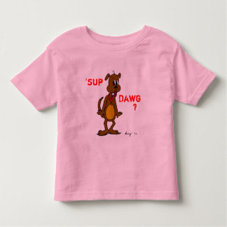 'SUP DAWG? Doggy Toddlers Ringer T-Shirt