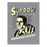 S'up Dog: Know What I'm Sayin Postcard