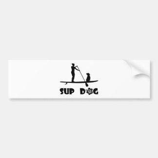 SUP Dog Sitting Car Bumper Sticker