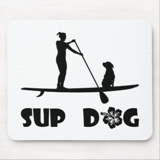 SUP Dog Sitting Mouse Pad