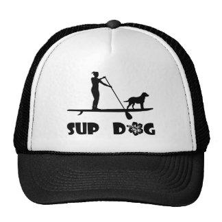 SUP Dog Standing Trucker Hat