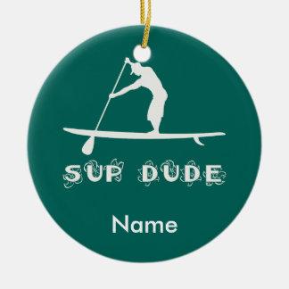 SUP Dude Ceramic Ornament