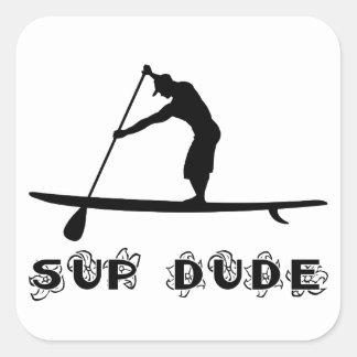 SUP Dude Square Sticker