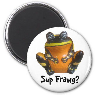 Sup Frawg? 2 Inch Round Magnet