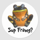 Sup Frawg? Classic Round Sticker