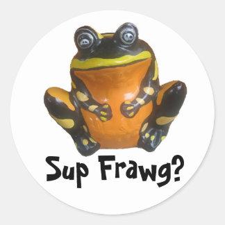 Sup Frawg? Classic Round Sticker