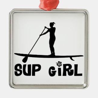 SUP Girl Metal Ornament