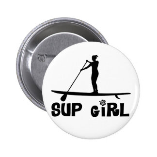 SUP Girl Pinback Button