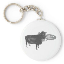'sup my vegans keychain