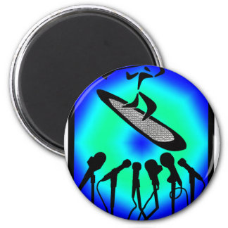 SUP NO EXCUSES 2 INCH ROUND MAGNET