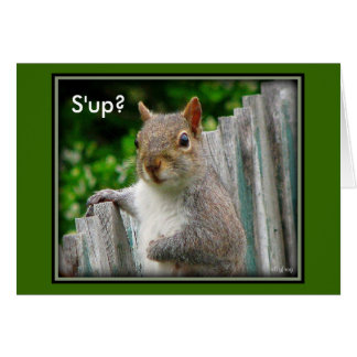 S'up?- notecard