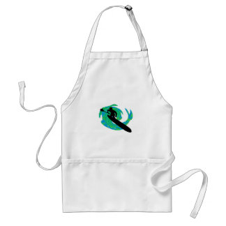 SUP ON TEAL ADULT APRON