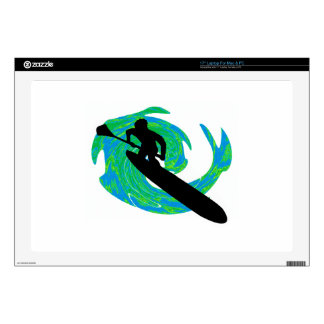 SUP ON TEAL LAPTOP DECALS