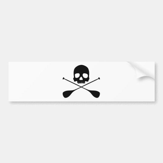 SUP Skull Bumper Sticker