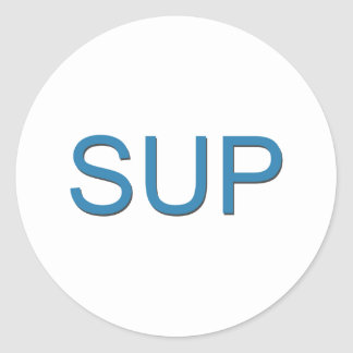 SUP (Stand Up Paddleboarding) Classic Round Sticker