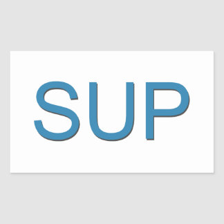 SUP (Stand Up Paddleboarding) Rectangular Sticker