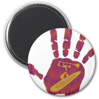 SUP THE HAND 2 INCH ROUND MAGNET