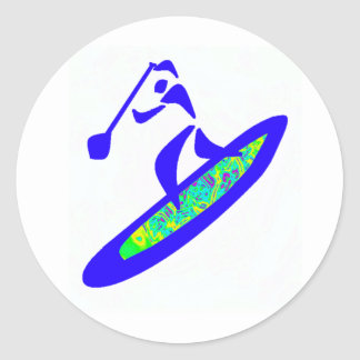 SUP WITH GROOVE CLASSIC ROUND STICKER