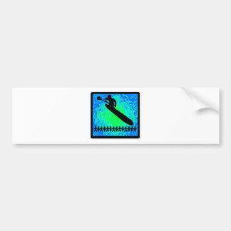 SUP WITH SPINS CAR BUMPER STICKER