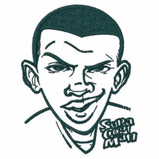 SUPA COOL MAN  -  Embroided Black Polo Shirt