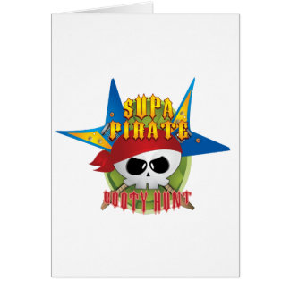 Supa Pirate Booty Hunt Greeting Cards
