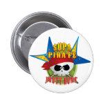 Supa Pirate Booty Hunt Pinback Button