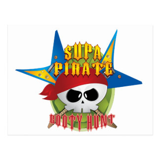 Supa Pirate Booty Hunt Post Card
