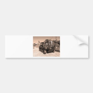 Supacat. The  all terrain six wheeled army vehicle Bumper Sticker