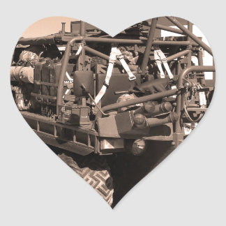 Supacat. The  all terrain six wheeled army vehicle Heart Sticker