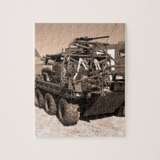 Supacat. The  all terrain six wheeled army vehicle Jigsaw Puzzle