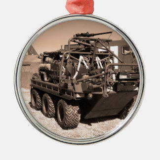 Supacat. The  all terrain six wheeled army vehicle Metal Ornament