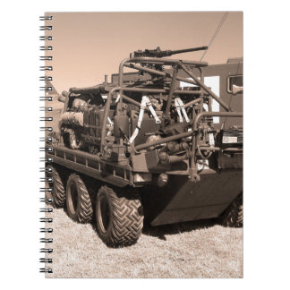 Supacat. The  all terrain six wheeled army vehicle Spiral Note Books
