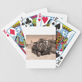Supacat. The  all terrain six wheeled army vehicle Bicycle Poker Deck