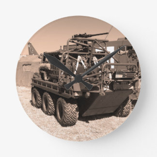Supacat. The  all terrain six wheeled army vehicle Round Clocks