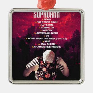 SUPADAMN Album Back Metal Ornament