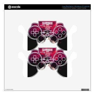 SUPADAMN Album Back Skin For PS3 Controller