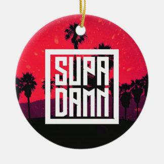 SUPADAMN Album Cover Art Ceramic Ornament