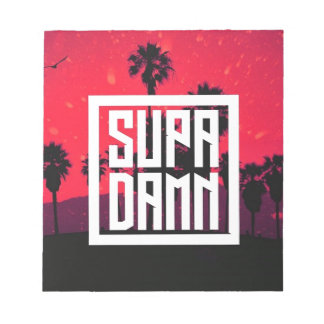SUPADAMN Album Cover Art Notepad