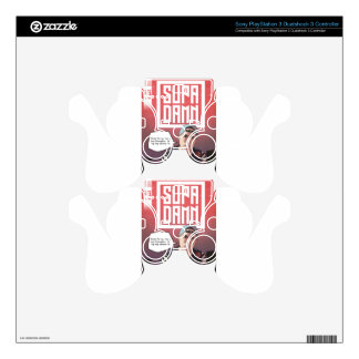 SUPADAMN Album Issue #1 Cover Art PS3 Controller Skins
