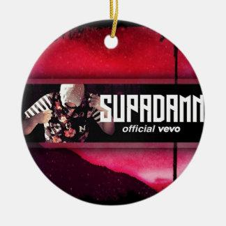 SUPADAMN VEVO Banner Ceramic Ornament
