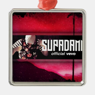 SUPADAMN VEVO Banner Metal Ornament