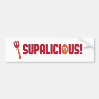 SUPALICIOUS! Bumper Sticker Car Bumper Sticker