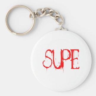 Supe Basic Round Button Keychain