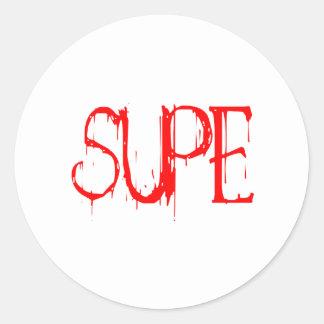 Supe Classic Round Sticker