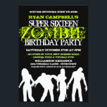"""Super 16 Zombie Party Invitations<br><div class=""""desc"""">Have a super fun zombie party with these great invitations you personalize!</div>"""