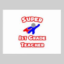 Super 1st Grade Teacher Postcard