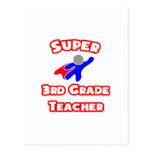 Super 3rd Grade Teacher Postcard